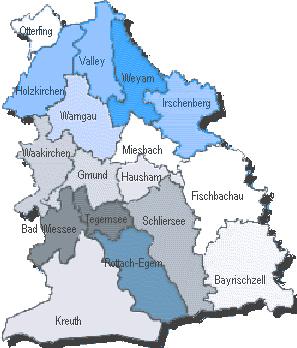 Bayern Regierungsbezirk Oberbayern Landkreis Miesbach